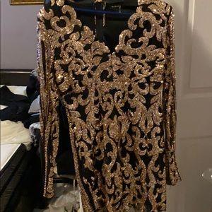 Night sparkle dress stretch